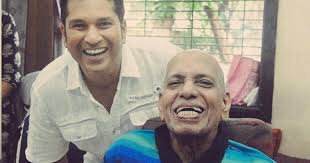 sachin with his mentor