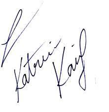 Katrina kaif Signature
