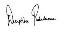 deepika padukone autograph